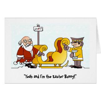 Cranky Christmas Card. Greeting Card