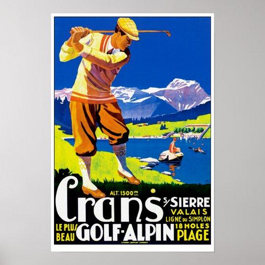 Crans Golf Alpin Poster