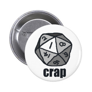 Crap 2 Inch Round Button