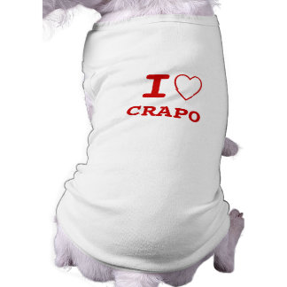 CRAPO I heart (love) Pet Clothing