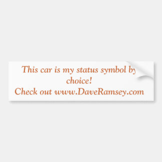 Crappy Car Bumper Sticker