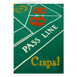 Craps! Belated Birthday Card