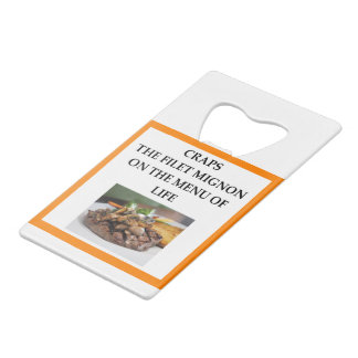 CRAPS CREDIT CARD BOTTLE OPENER