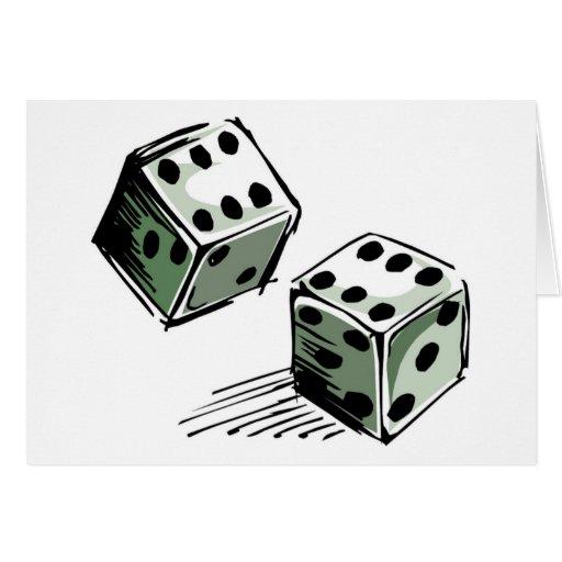 Craps Dice High Roller Gambling Card