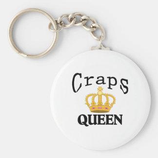 Craps Queen Keychain