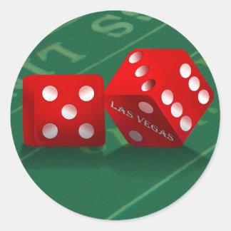 Craps Table With Las Vegas Dice