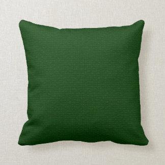 Craquelure Textured Dark Green Pillow