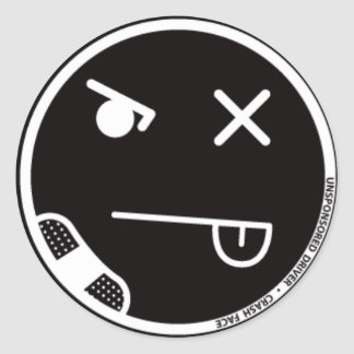 Crash Face #3 Sticker