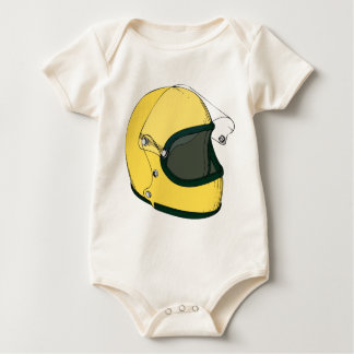 Crash Helmet Baby Bodysuit