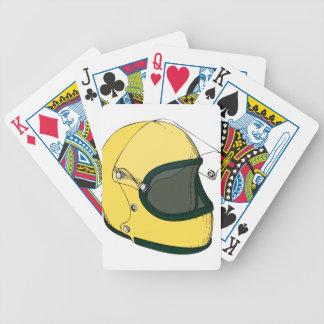 Crash Helmet Bicycle Playing Cards
