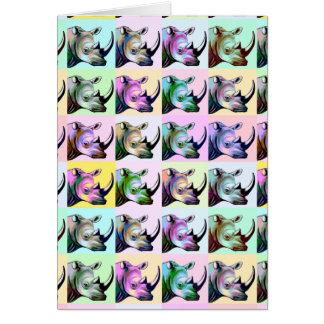 Crash of Rhinos Pop Art Card