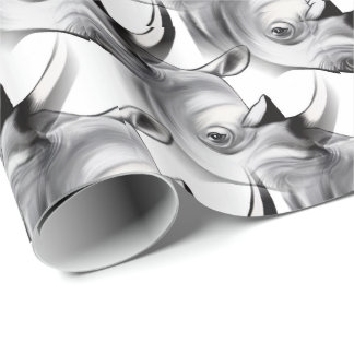Crash of Rhinos Wrapping Paper
