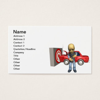 Crash Test Dummy Business Card