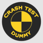 Crash Test Dummy Classic Round Sticker