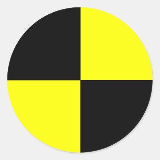 crash test dummy round sticker