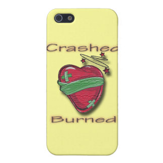 Crashed and Burned wounded heart iPhone 5 Covers