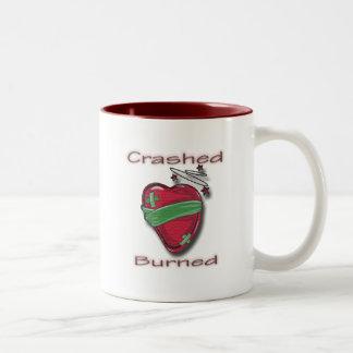Crashed and Burned wounded heart Mug