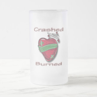 Crashed and Burned wounded heart Coffee Mugs