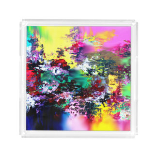 Crashing Colors Acrylic Tray