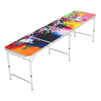 Crashing Colors Beer Pong Table