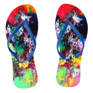 Crashing Colors Flip Flops