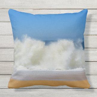 Crashing Ocean Waves Outdoor Throw Pillow
