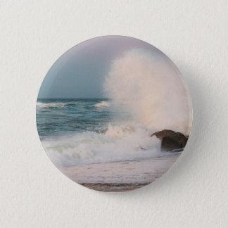 Crashing wave 2 inch round button