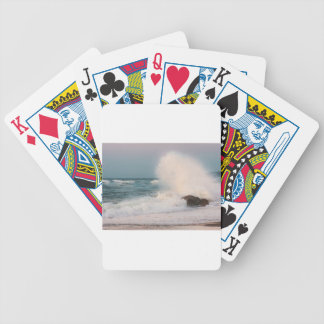 Crashing wave bicycle playing cards