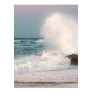Crashing wave letterhead