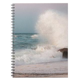 Crashing wave notebook