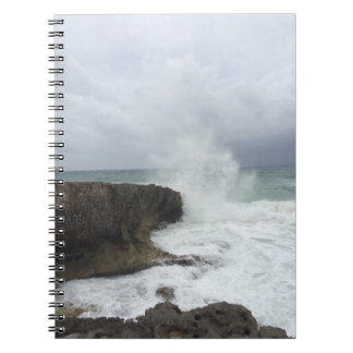 Crashing Wave on a rocky shore notebook