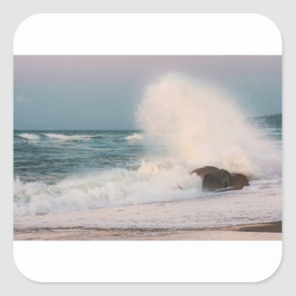 Crashing wave square sticker