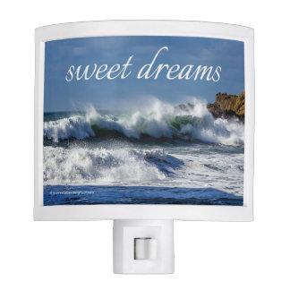 """Crashing Waves at Big Sur, """"sweet dreams"""" - Nite Lite"""