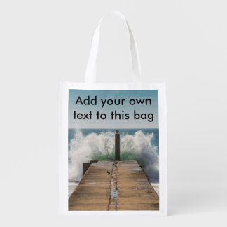 Crashing waves bag market tote