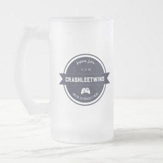 CrashleeTwins Vintage Frosted Glass Beer Mug