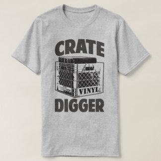 Crate Digger Vinyl Addict Junkie DJ Humor T-Shirt
