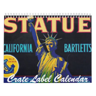 Crate Label Calendar