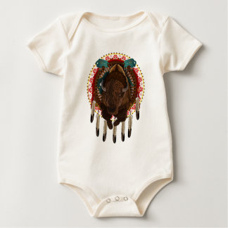 Cratemade Native American Buffalo design Baby Bodysuit