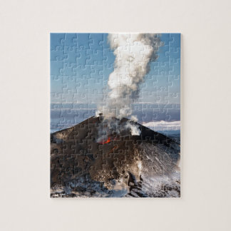 Crater eruption volcano: lava, gas, steam, ashes jigsaw puzzle