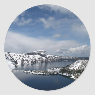 Crater Lake and Wizard Island Classic Round Sticker
