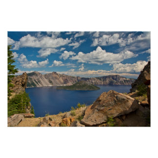 Crater Lake and Wizard Island, Crater Lake Poster