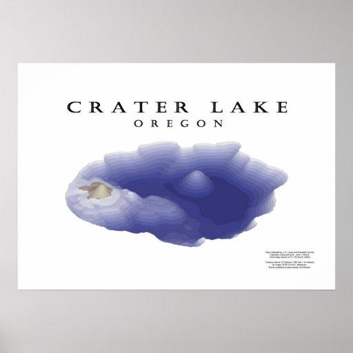 Crater Lake map Poster
