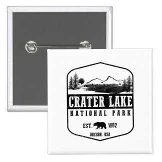 Crater Lake National Park 2 Inch Square Button