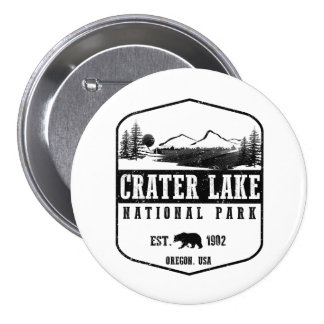 Crater Lake National Park 3 Inch Round Button