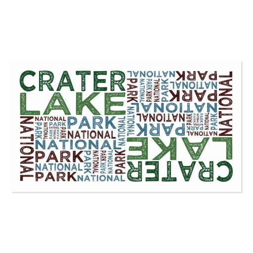 Crater Lake National Park Business Card Template