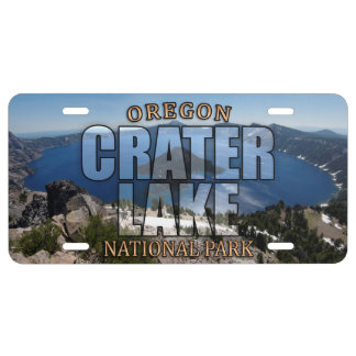 Crater Lake National Park License Plate