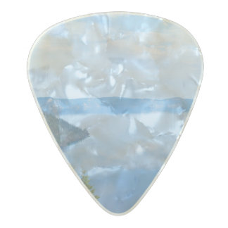 Crater Lake National Park Pearl Celluloid Guitar Pick