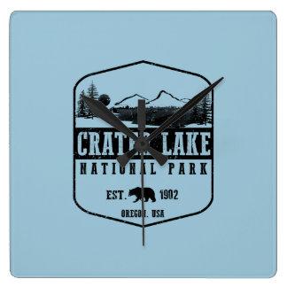 Crater Lake National Park Square Wall Clock