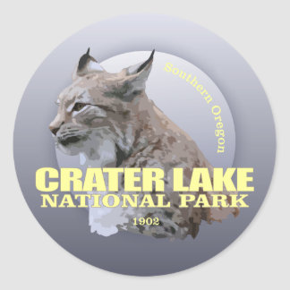 Crater Lake NP (Lynx) WT Classic Round Sticker