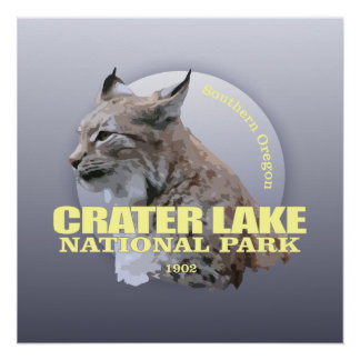 Crater Lake NP (Lynx) WT Perfect Poster